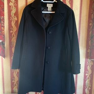 L.L. Bean Women's Lambswool Polo Coat - 12P